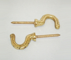 B21 Plain Brass Hook, 10pcs