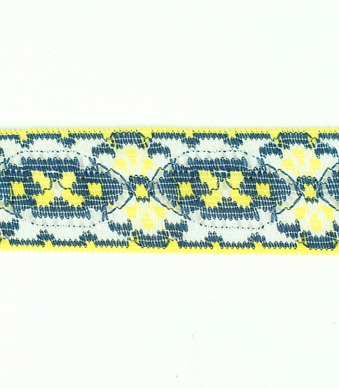 Yellow & Navy Lace, 50m