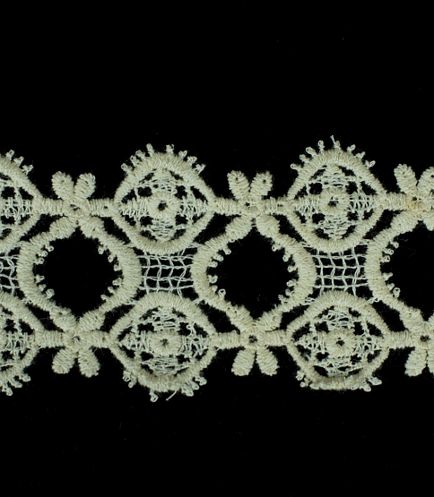 45mm Cream Scalloped Guipure Lace, 25m
