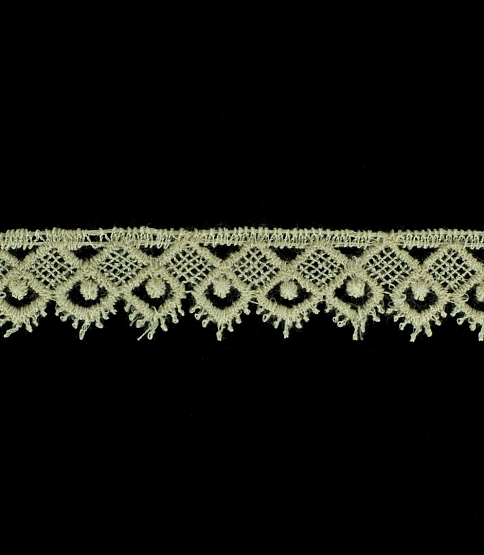 15mm Cream Scalloped Guipure Lace, 27m