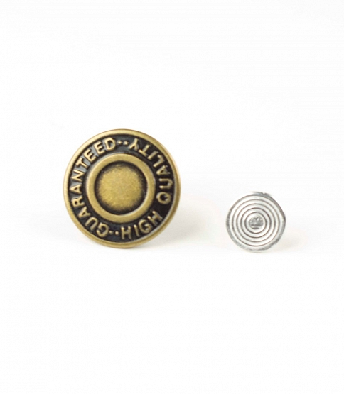 Antique Gold Jean Buttons