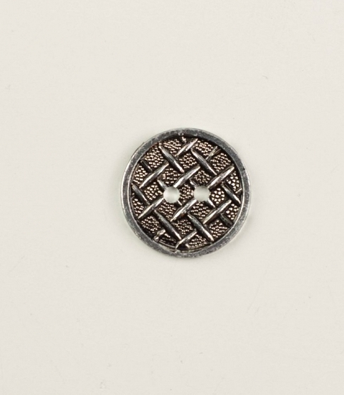 30L 2-Hole Silver Fence Button, 100pcs