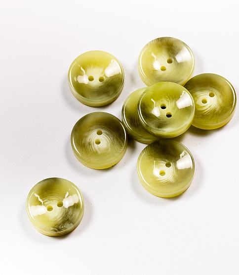 36L Light Grey Faux Horn Buttons, 100pcs