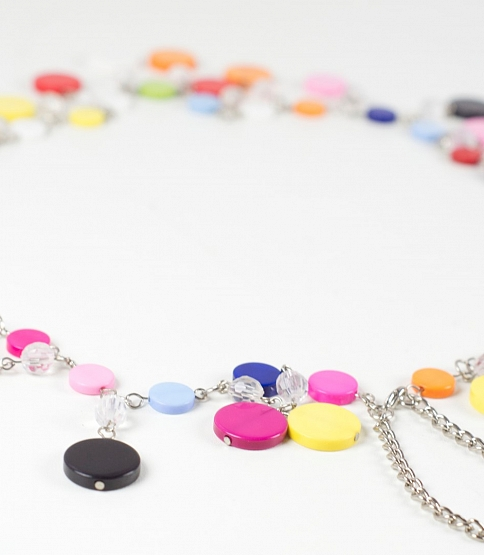 Multi-Colour Bead Chain Belt