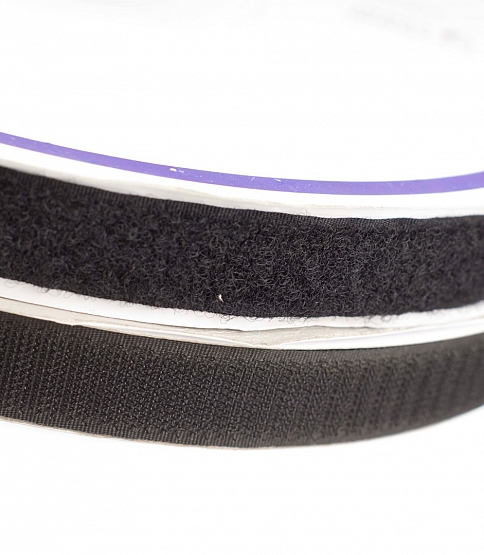 20mm Black Stick-on Velcro, 25M