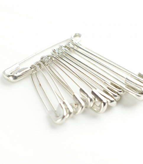 Assorted Nickel Safety Pins (Butterfly), 720pcs