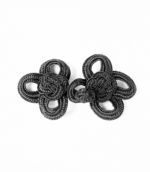 Black Knot Frog Fasteners, 10 Pairs