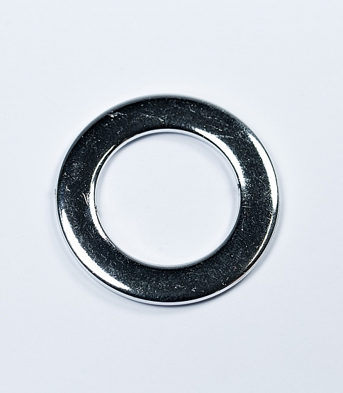 30mm Round Silver Ring