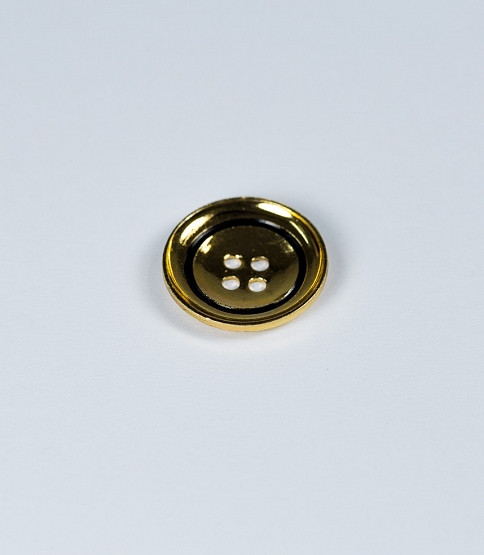 30L, 4-Hole Gold & Black Button, 200pcs