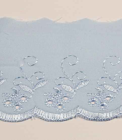 Baby Blue Broderie Anglaise, 54.8m
