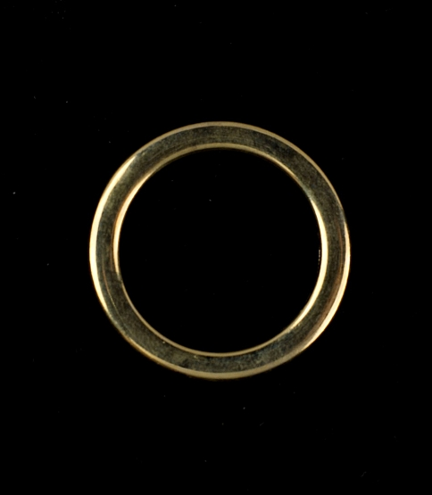 35mm Antique Brass Flat Rings, 20pcs