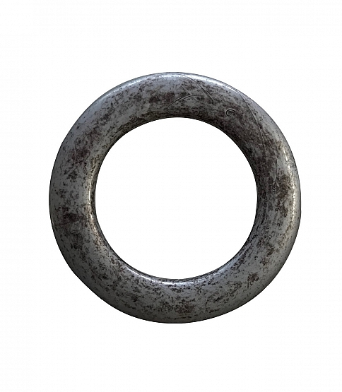 35mm Round Antique Silver Ring