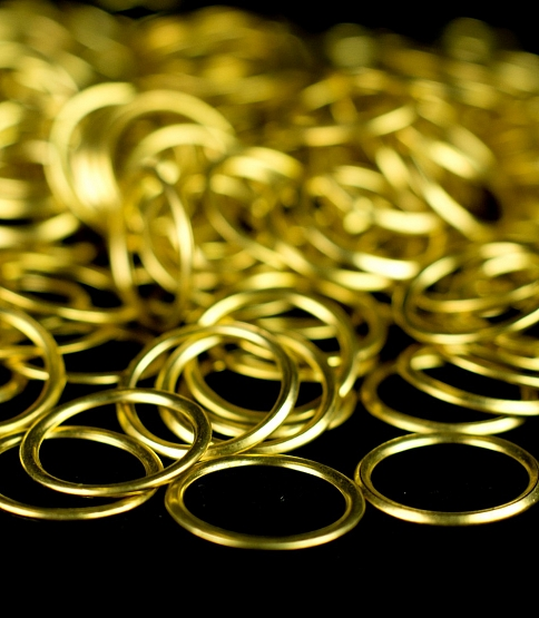 Brass Curtain Rings, 100pcs