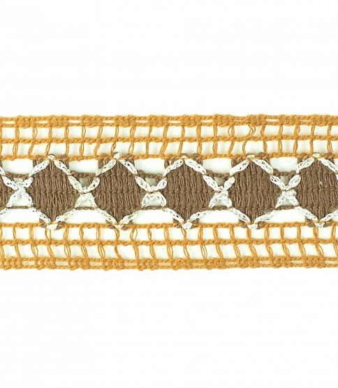 Brown Crochet Lace, 25m