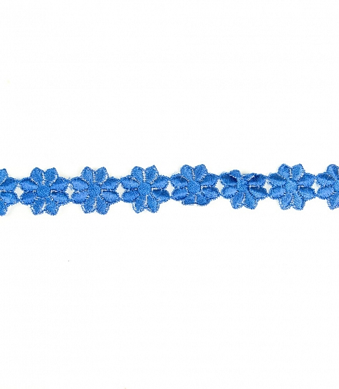 25mm Royal Blue Daisy Lace, 18m