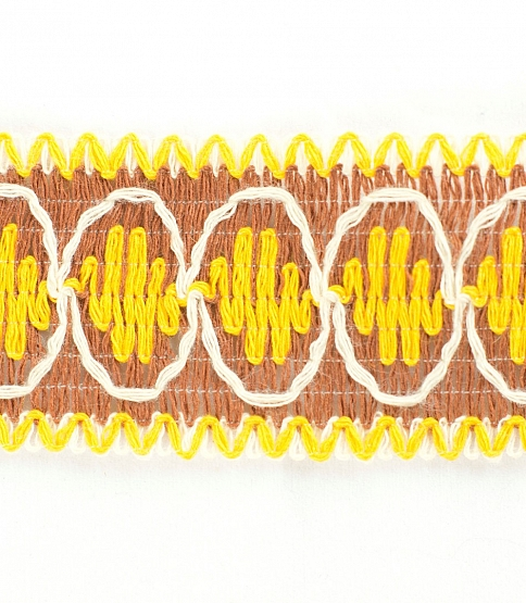 45mm Yellow Retro Cotton Braid, 25m