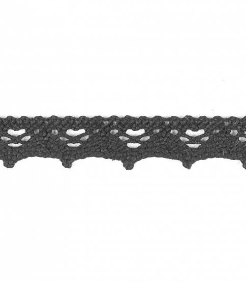 15mm Black Crochet Lace Edging, 100m