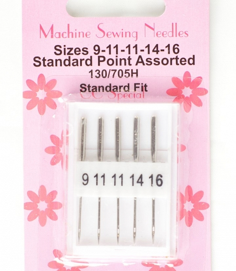 Domestic Sewing Machine Needles, 10 cards