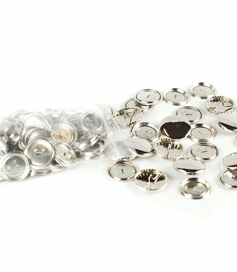 Metal Cover Buttons, 100pcs