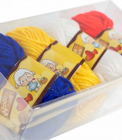 Children's Knitting Kit, 4 Balls