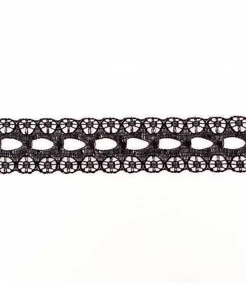 15mm Black Knitting in Lace, 266m