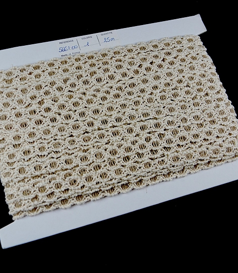 Natural 25 Metres × 10mm French Cotton Braid Lace Trim